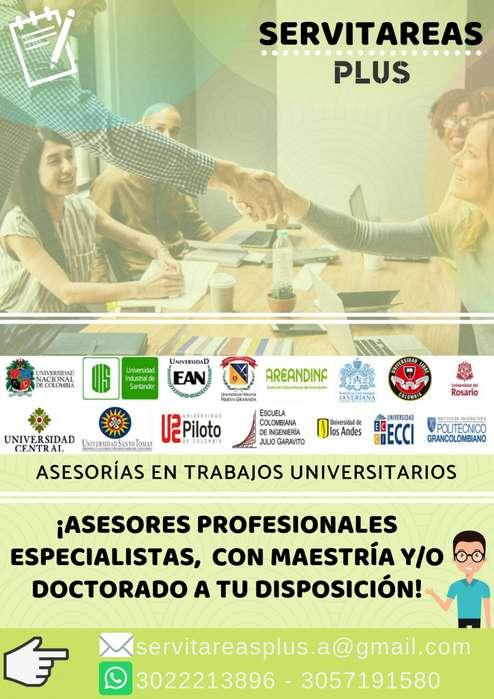 Asesorías Académicas Trabajos Universitarios/Ingeniería/Cálculo/Física/Estadística/Contabilidad/YMuchasÁreasMás