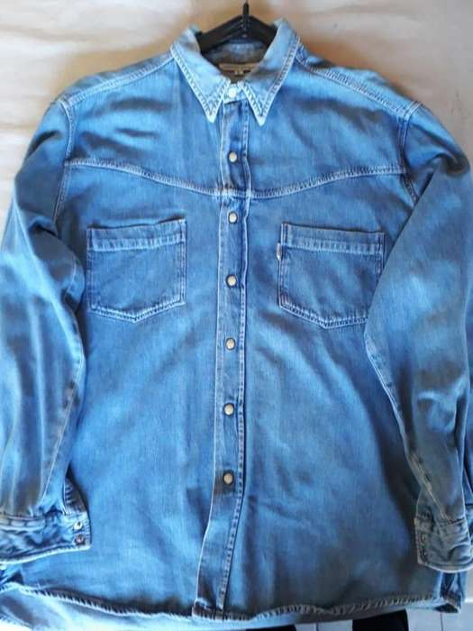 CAMISA DE JEAN MARCA GUESS <strong>mujer</strong> TALLE L