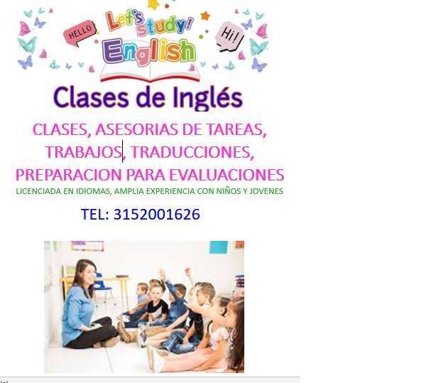 CLASES DE INGLES, LICENCIADA, TRABAJOS, ASESORIAS TAREAS, TRADUCCIONES, EXCELENTE PEDAGOGIA Y BUENOS PRECIOS