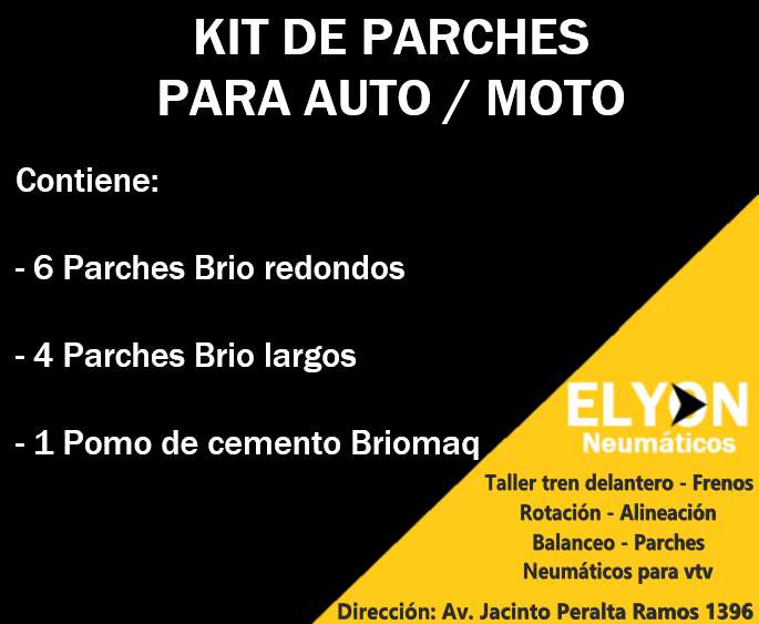 KIT DE PARCHES PARA AUTO / MOTO