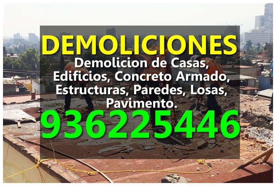 Demolicion, Demoliciones, Eliminacion de DESMONTE, Movimiento de Tierra, Excavaciones. Recojo Escombros y Malezas