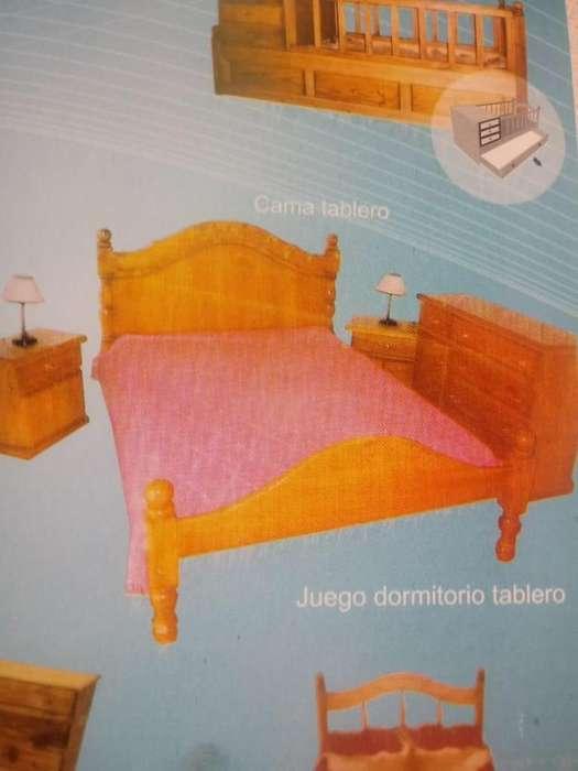 juego de <strong>dormitorio</strong> con tablero madera