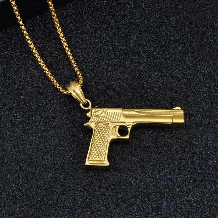 Collar pistola oro 18k