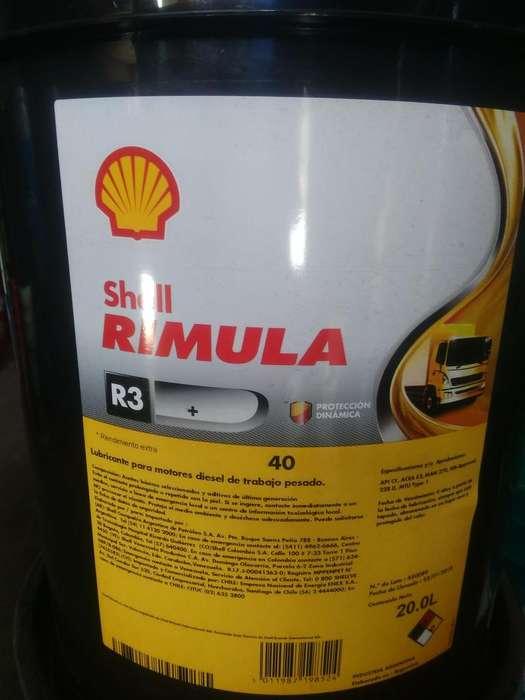 Aceite Motor Shell Rimula R3 40 Mineral Balde 20 Litros