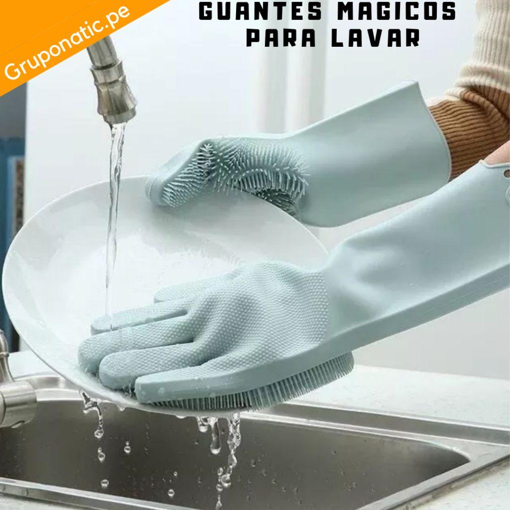 2 Guantes mágicos Esponja Lavaplatos Cocina Gruponatic San Miguel Surquillo Independencia La Molina Whatsapp 941439370