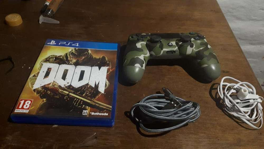 Control Ps4 Doom cable Audífonos