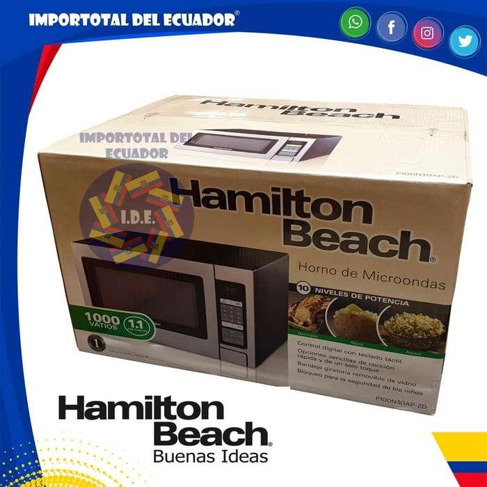 Horno de microondas cromado ''nuevo'' 30 litros grande / 1000 vatios / Hamilton Beach P100N30AP-ZD / 1 año garantía