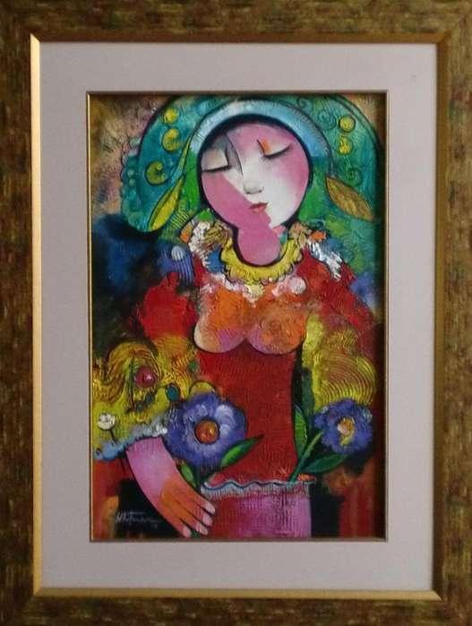 Cuadro Mujer De Whitman Gualsaqui
