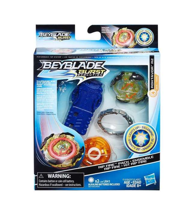 Hbk Beyblade Burst Roktavor R2 C/ Luz