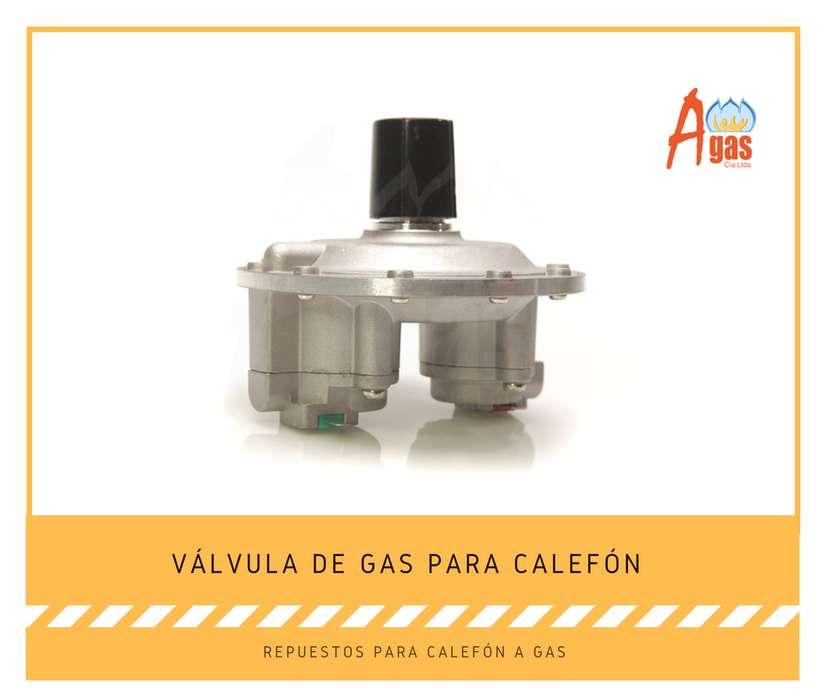 Valvula de gas para calefon