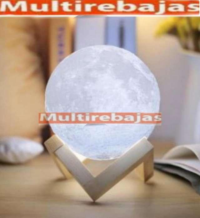 Lámpara Luna Grande 46 Cm Con Base