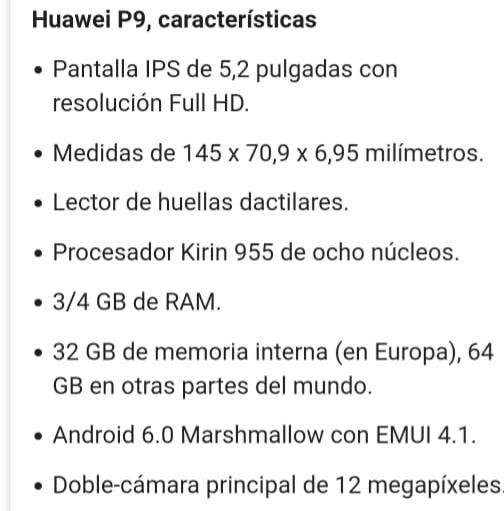 Vendo Huawei P9 Excelente Estado