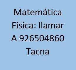 Profesor de Matemática Física en Tacna