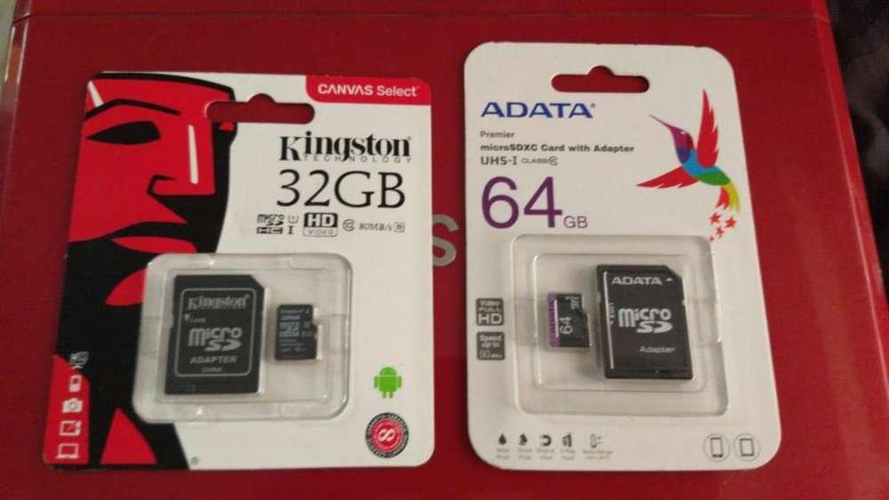 Memorias Micro Sd de 32gb Y 64gb
