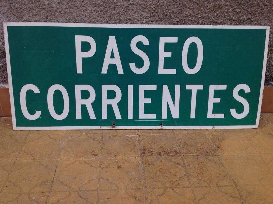 <strong>cartel</strong> Chapa Gruesa Paseo Corrientes