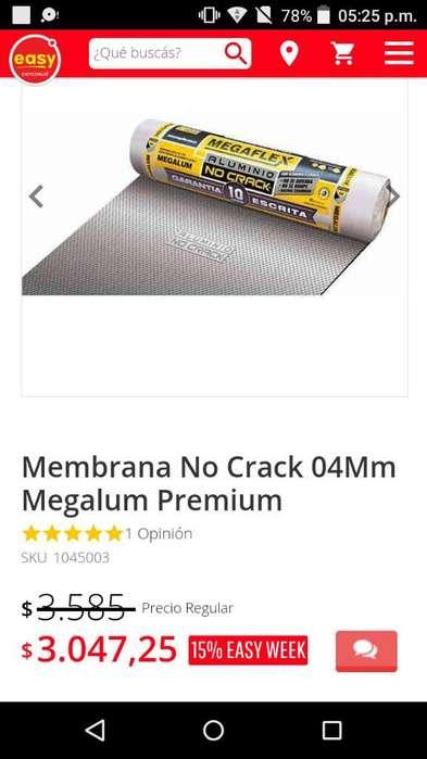 Vendo Membrana No Crack 04mm