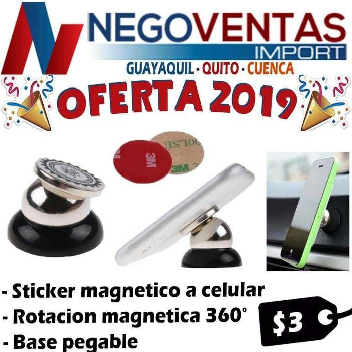 SOPORTE MÁGNETICO PARA CELULARES PRECIO OFERTA 3,00