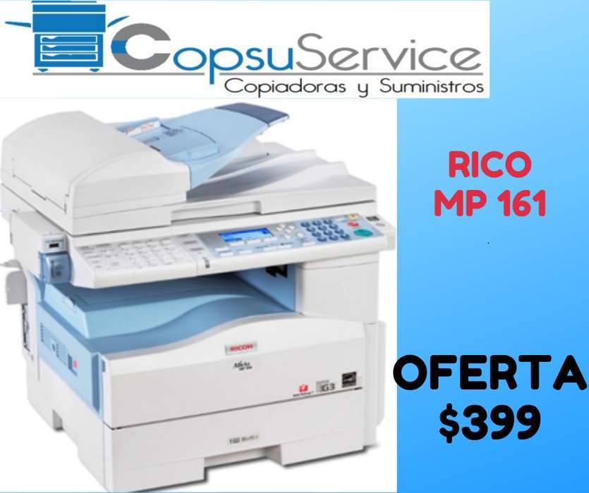COPIADORA MULTIFUNCIONAL RICOH MP 161