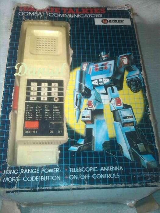 Walkie Talkies juguete antiguo años 80 funcionando