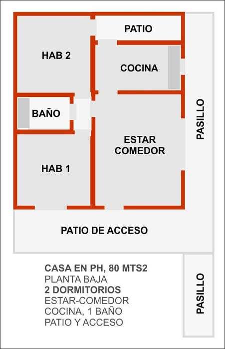 ALQUILO x 3 meses PH PB 3 AMBIENTES calle Mexico y Alvarado