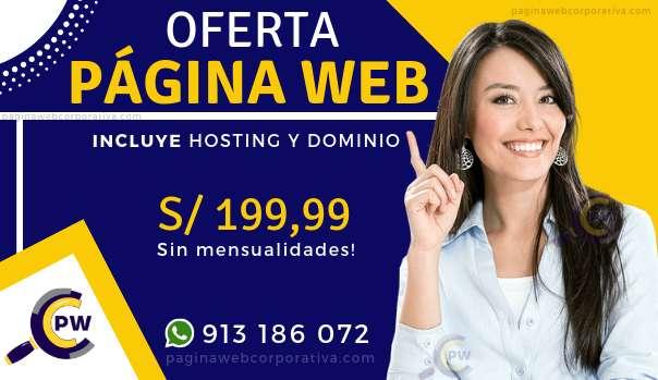 Páginas Web Corporativa - Correos - Hosting & Dominios - Diseño Web en Perú