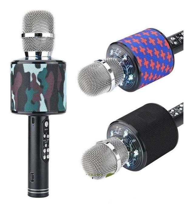 Micrófono Karaoke K-319 Bluetooth Parlante Portatil Sd Aux