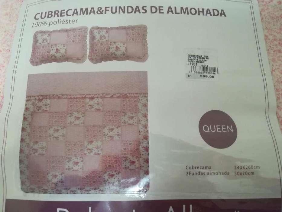 Cubrecama Y Funda Almoh Queen Rob. Allen