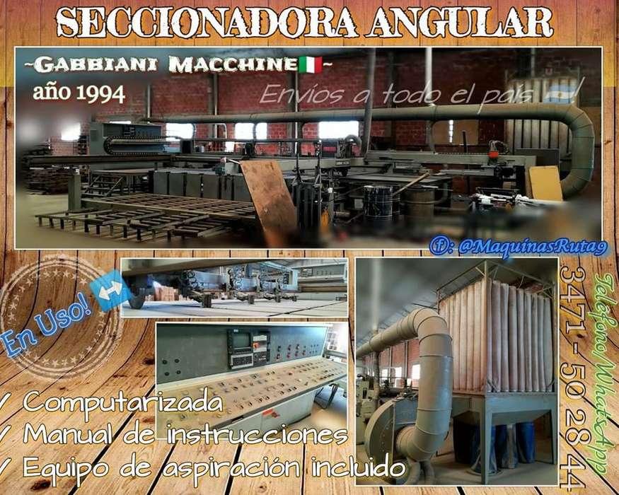 SECCIONADORA ANGULAR máquina de carpintería fábrica de muebles