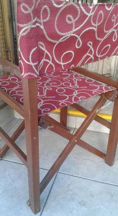vendo hermoso sillon tipo director en madera