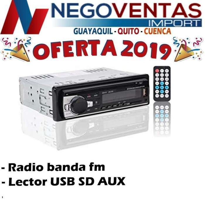 RADIO PARA CARRO BLUETOOTH MASCARILLA FIJA USB,SD,AUX