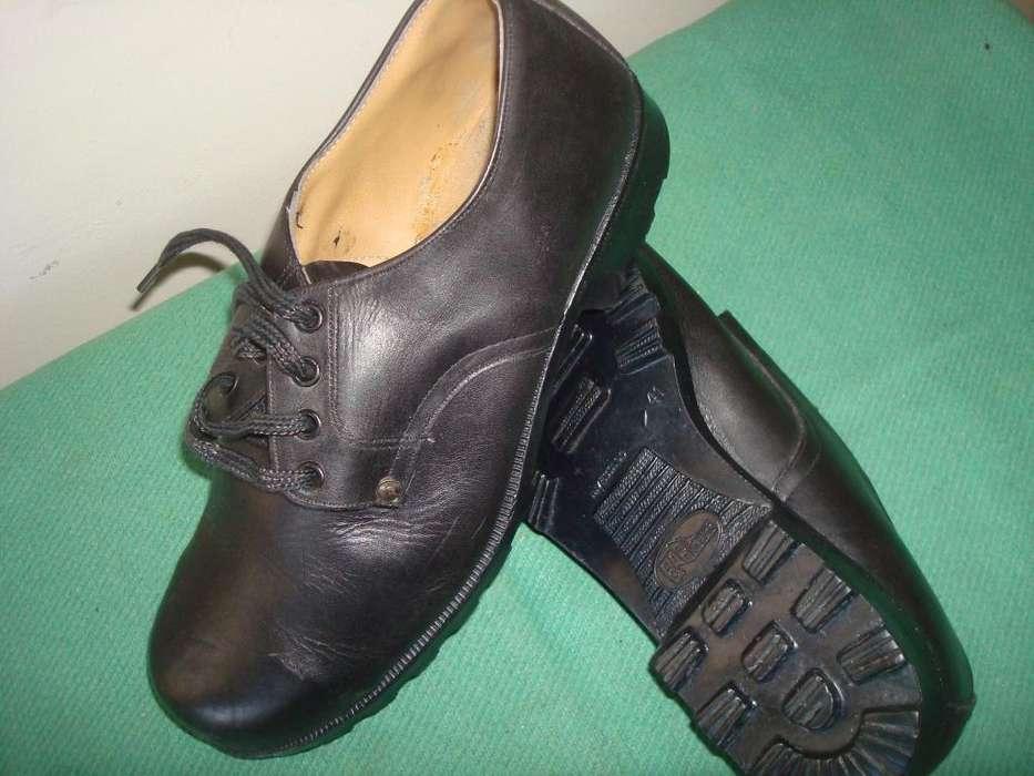 Zapatos Industrial Con Punta De Acero N41 Usado Suela Boris