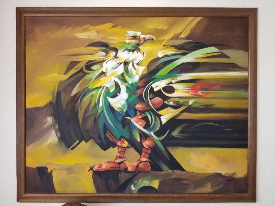Cuadro inspirado en el artista Alejandro Obregón