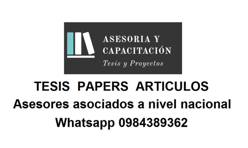 ASESORIA Y CAPACITACION TESIS PREGRADO Y POSTGRADO