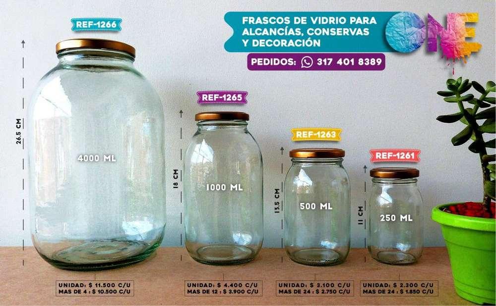 Frascos de Vidrio: ALCANCÍAS, CONSERVAS Y DECORACIÓN