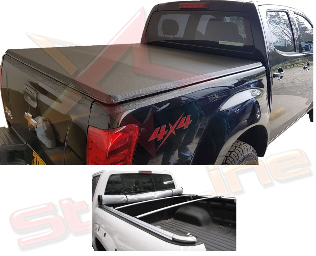 Carpa Plana Chevrolet Dmax 2015/16/17/18/19 Lona Con Marca Enrollable Riel Aluminio Camioneta Ref MC280 ¡Envío Gratis!