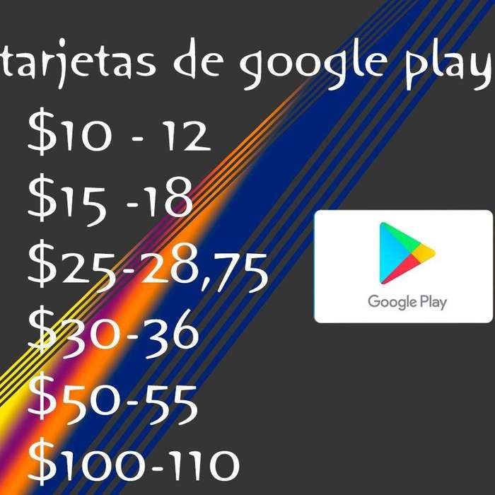 Tarjetas de Google Play