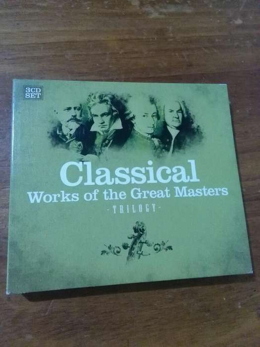 Box 3 Cd Música Clásica TRILOGY Classical Works of the Great Masters año 2006