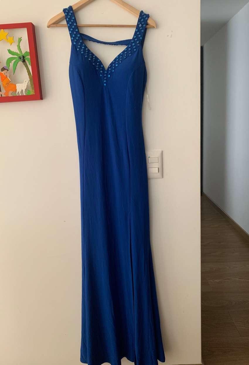 Vestido Largo Azul Rey Nuevo Ropa 1100335924