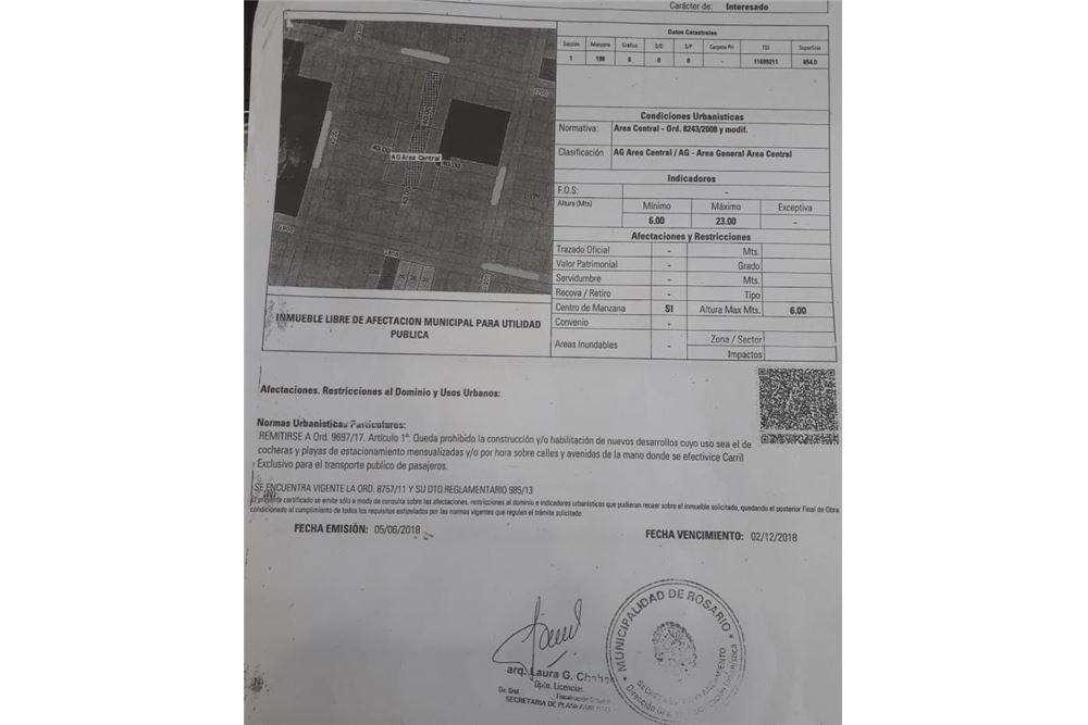 TERRENO CONSTRUCTORA - MENDOZA 1800