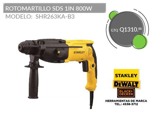 ROTOMARTILLO SDS 1IN 800W SBDSHR263KA-B3
