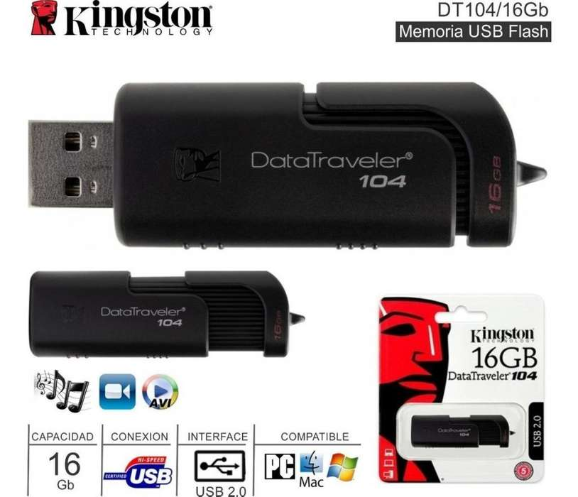 MEMORIA USB DE 16GB KINGSTON