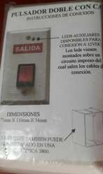 Pulsador Interruptor Doble con caja ZEBRA