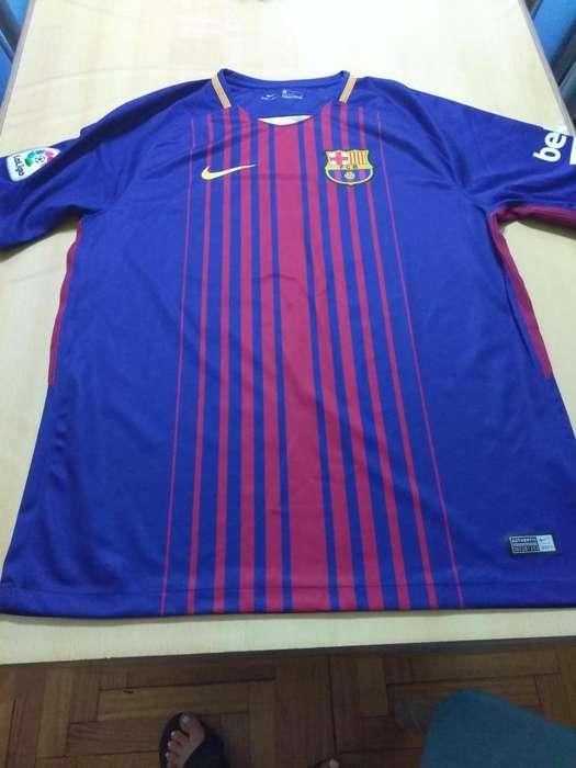 Camiseta Barcelona Fc 2017. Nike Original. Messi. Talle L.