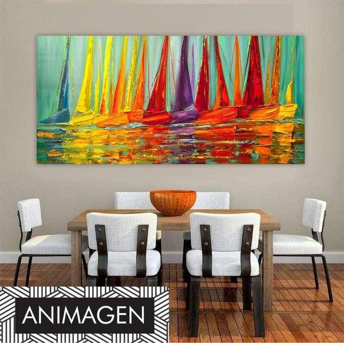 Moderno cuadro abstracto 9763