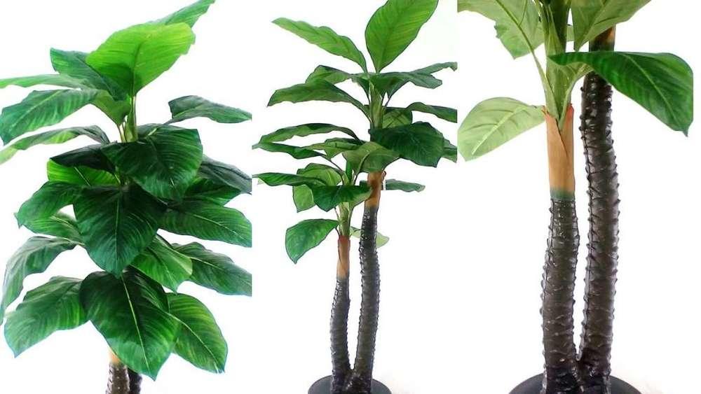 Plantas Decorativas Artificiales Realistas Hojas Verdes