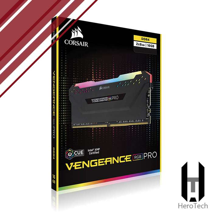 RAM 16GB DDR4 CORSAIR Vengeance PRO RGB 3200 Mhz CL16 Kit 2x8GB