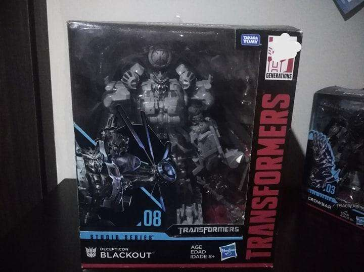 transformers studio series numero 8 blackout en buen estado