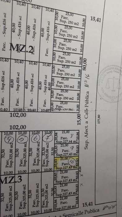 <strong>terreno</strong> zona Barrio Mariano Moreno 21mtsx10 mts