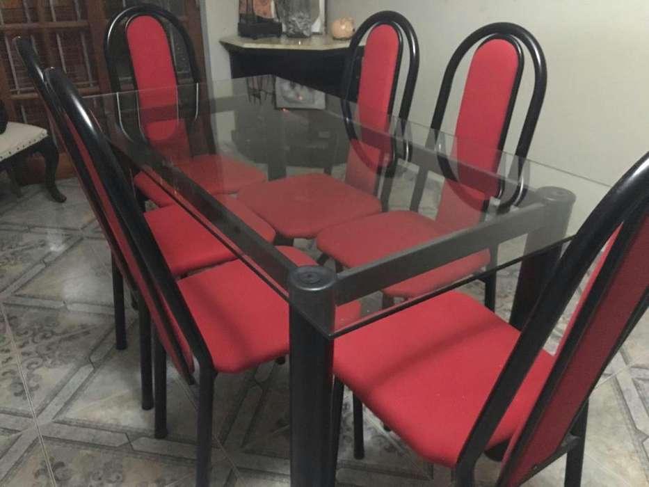 Vendo Meza de Vidrio con 6 <strong>silla</strong>s