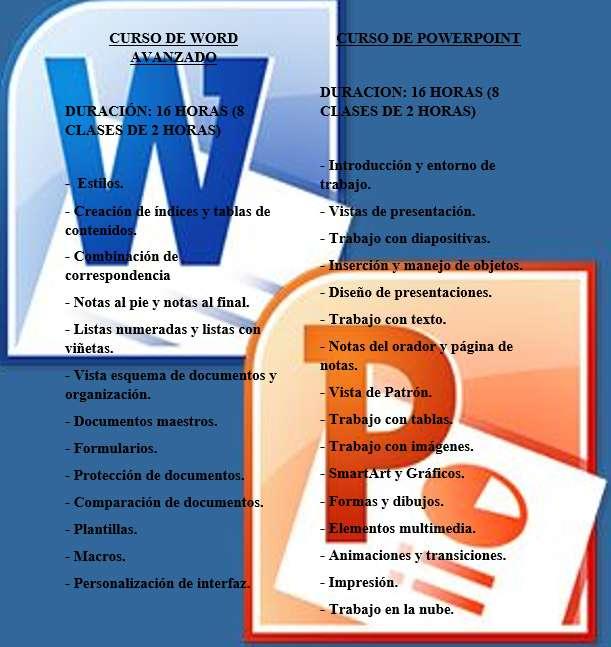 CURSO DE WORD Y POWER POINT PERSONALIZADO CONTENIDO DISPONIBLE REVISALO